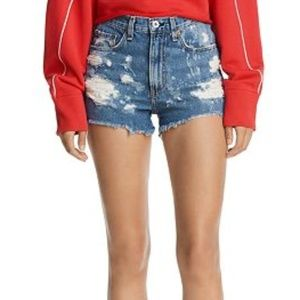RAG & BONE Destroyed Bleached Justine Cutoff Short